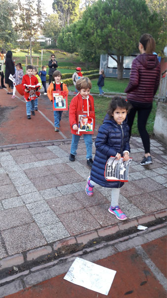Kindergarten and Primary School Students' Republic Day Walk