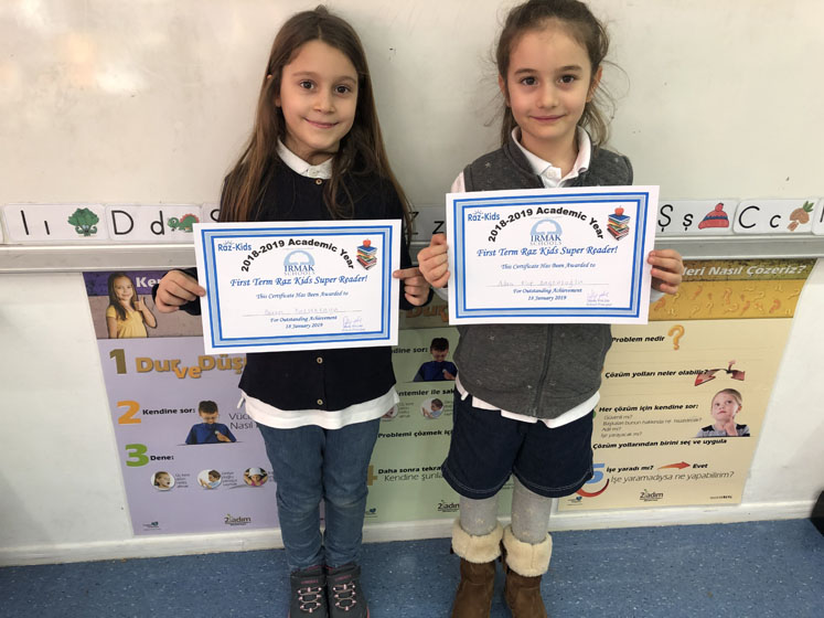 Our primary school students who read the most books from Raz-kids