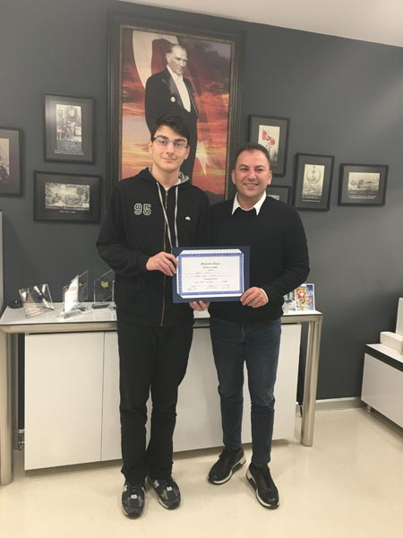 Tayfun Oral Is A Student With A Perfect Score  At International Math League Competition