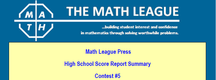 International Math League Math Contest