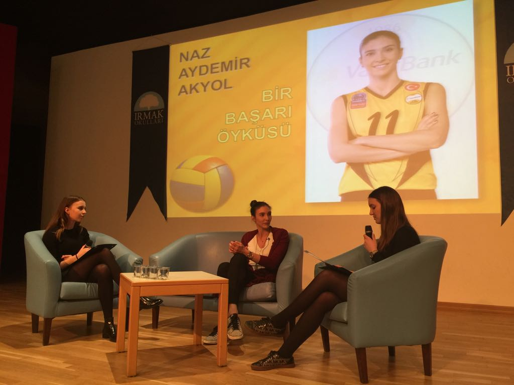 We have hosted our world champions volleyball club Vakıfbank's star Naz Aydemir Akyol