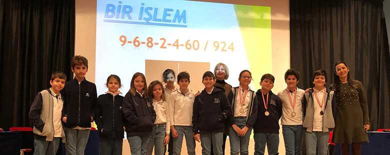 On Monday, January 13th, sixth grade and fifth grade students participated in our school's mathematics contest