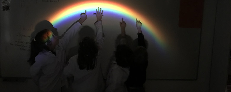 We Made a Rainbow In The Laboratory With 2nd Grades