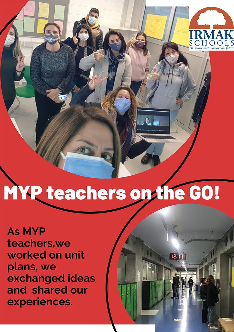 As MYP teachers, we worked on unit plans, exchanged ideas and shared our experiences.